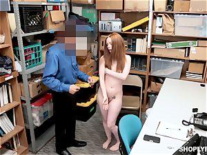 Ella Hughes penetrated nuts deep by naughty mall cop