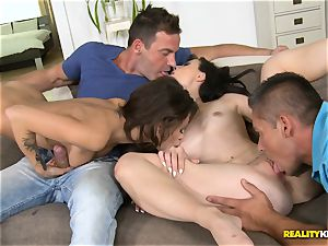 Nikita Bellucci and Kristi ebony striking vagina lovemaking
