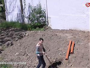 MyDirtyHobby super-fucking-hot teen pulverizing the Gardener