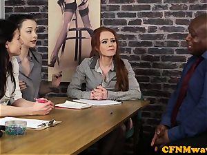 audition CFNM gal agent draining ebony pink cigar