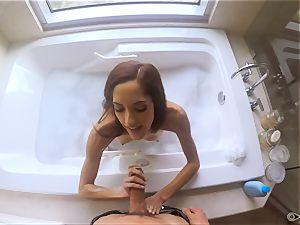 Chloe Amour ravaged after a bathtub
