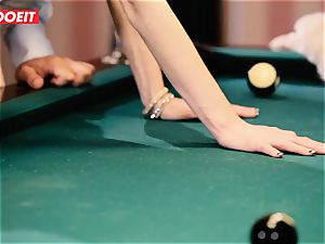 LETSDOEIT - kinky teenage pummeled stiff on the Pool Table
