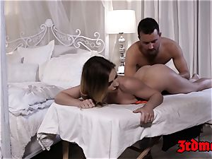 epic Sydney Cole juggling on man rod after rubdown