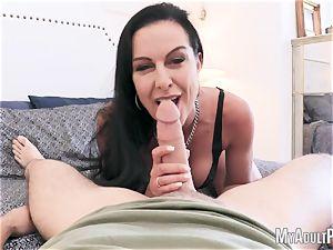 horny mummy enjoys pov bj