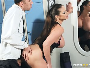 Locker room pounding with Cathy Heaven