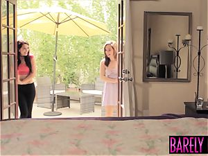 seductive 19yo Brooke Haze entices older fellow with a dt