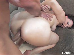 Dana DeArmond gets an ass-fuck humping on the sofa