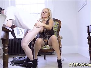sizzling blond takes trio hard-ons Having Her Way With A newcomer
