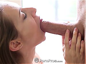 cool Cassidy Klein bouncing on spunk-pump
