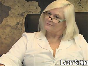 LACEYSTARR - GILF slurps Pascal milky cum after fuck-a-thon
