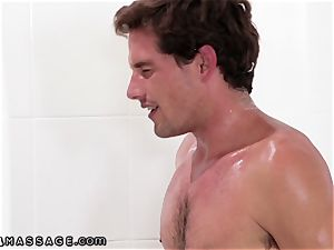NuruMassage Isabelle Deltore is Soapy with Stepson!