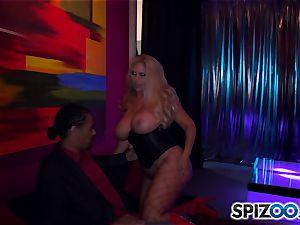 Stripper Karen Fisher works his pole