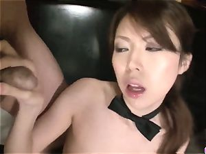 Rino Asuka plays naughty with a gang of mischievous folks