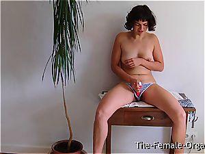 furry school damsel milks her dripping slit