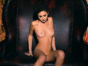 slender diminutive Ariana Marie stellar rubber solo masturbation