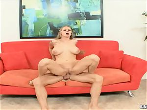 Abby railed juggles her super-hot vulva on this hard pecker