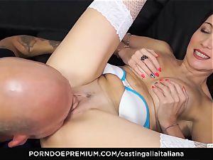 casting ALLA ITALIANA - new-cummer anal invasion gape and shag
