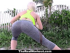 highly motivating workout fuck-a-thon with red-hot nubile trainer