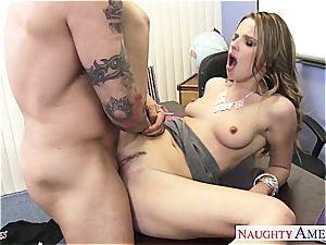 slim Jillian Janson crazy for her teacher's boner