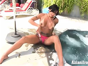sumptuous woman riding sybian the other dame faux-cocks