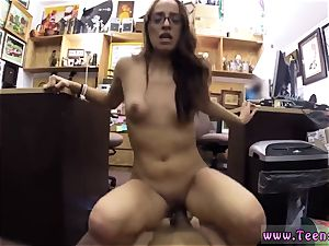blonde milky bed school student romped in my pawn shop!