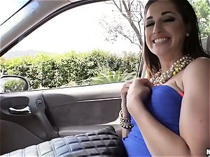 Ashley Daily eats up chisel in the car after picked up