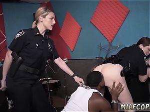mummy dark haired stellar jerks moist flick captures cop poking a deadbeat parent.