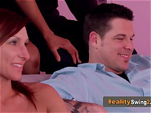 pink apartment sizzles up when kinky couples arrive to meet and greet