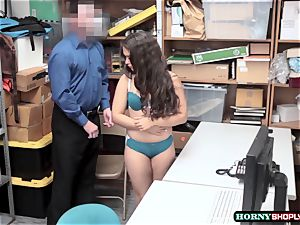 nubile Ziggy starlet gets idolized by 2 officers yam-sized knob in the office