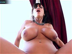 Lisa Ann loves sitting into Toni Ribas ginormous boner