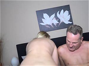 REIFE SWINGER - Mature German newcomer gets cum on hooters
