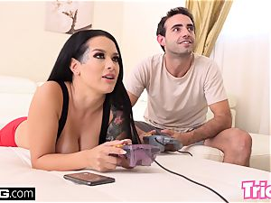 Trickery step brother romps step-sister Katrina Jade