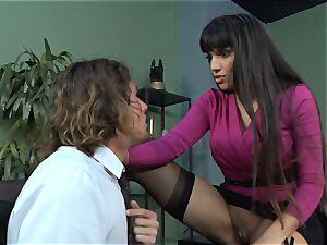 Mercedes Carrera gets an employees manstick deep inwards her