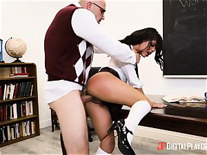 schoolteacher catapults his huge cock into schoolgirl Gina Valentina