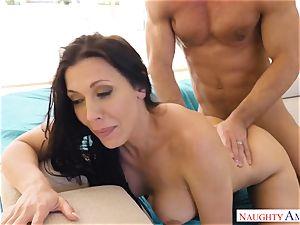 Rachel Starr bounces her wet beaver on Johnnys hard boner