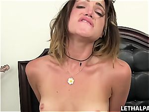 super-naughty youthful stepsister needs a wood