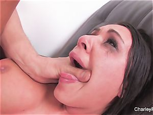 brown-haired sweetheart Charley gets a harsh porking