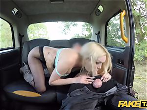 faux taxi british light-haired ultra-cutie Amber Jayne