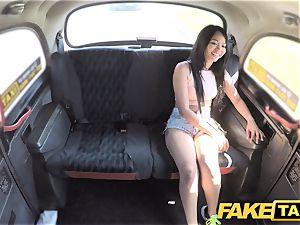 fake cab stunning Thai doll with pierced vulva lips