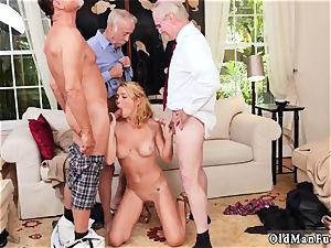 large breasts brunette fledgling blowjob Frannkie And The gang Tag team A Door To Door Saleswoman