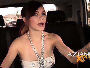 Aziani Xposed babe offers guy in public a blow-job four gas