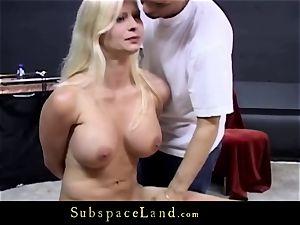 Dangerous playground for immense breasts blondie