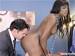 mind-blowing Ana Foxx has molten warm orgy with Charles Dera