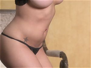 fabulous star Jenna Presley takes out her large knockers and demonstrates off