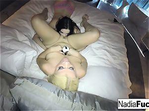 Nadia milky and Jenna all girl bang-out