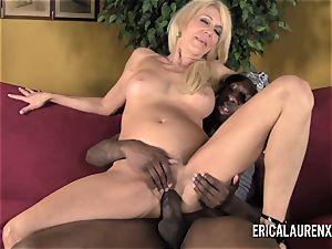 blond mummy Takes On youthfull ebony boy