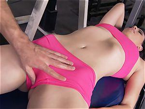 Gym honey Casey Calvert liking her exercise