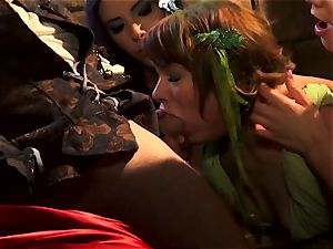super-steamy four-way with Claire Robbins and pals