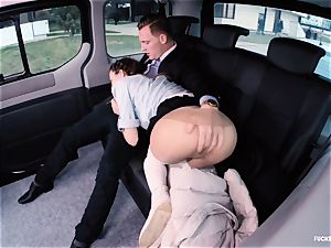 ravaged IN TRAFFIC college chick gets pulverized by driver