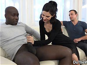 wife and Cuck converse a ebony into backside intercourse